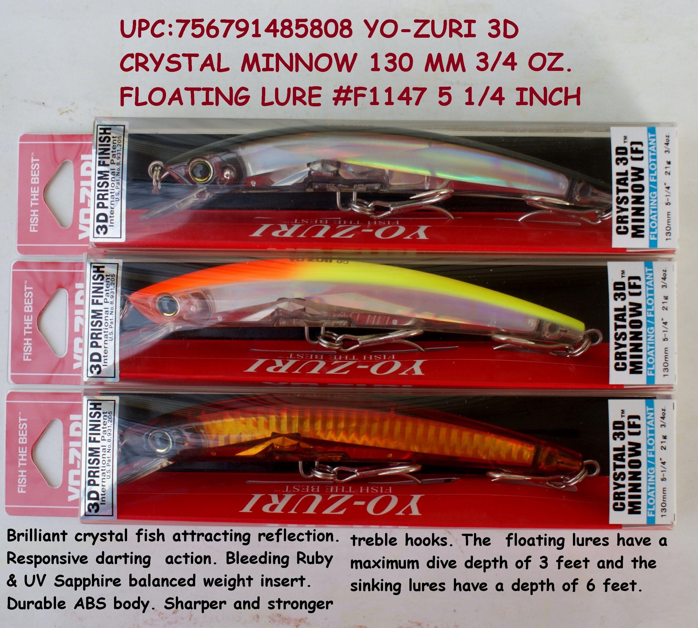 "Yo-Zuri 3D Magnum DD 7/"" Deep Diver Lure Dives to 25 Feet--Pick Color"