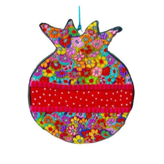 Shana Tova Magnet Pomegranate Jewish Art Jewish Gifts Rosh