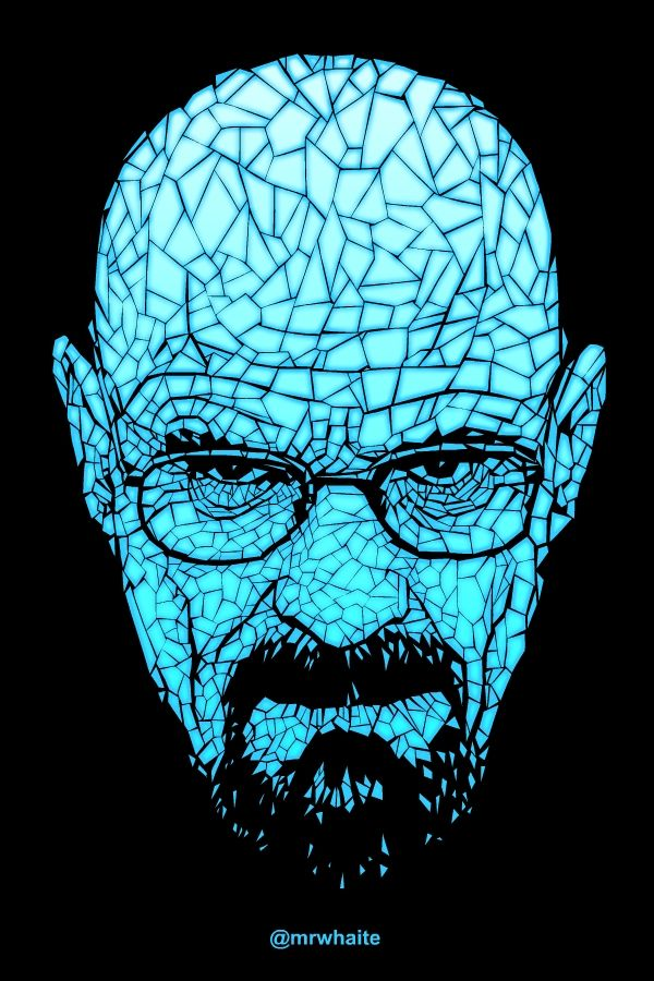 A portrait of Walter White from Breaking Bad. This design ...