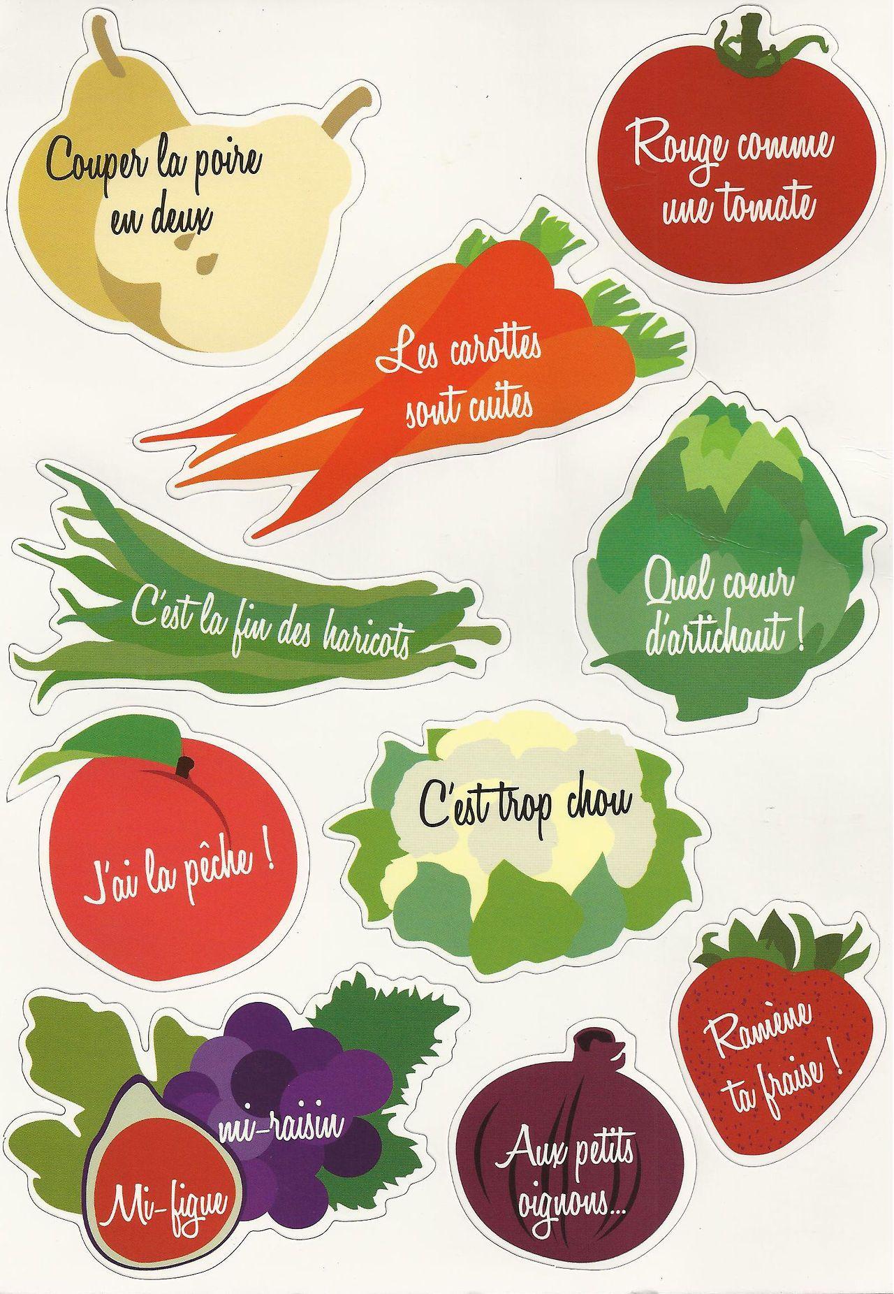 Et vous connaissez vous ces expressions avec des fruits et l gumes dans la salle de classe - Difference fruit et legume ...