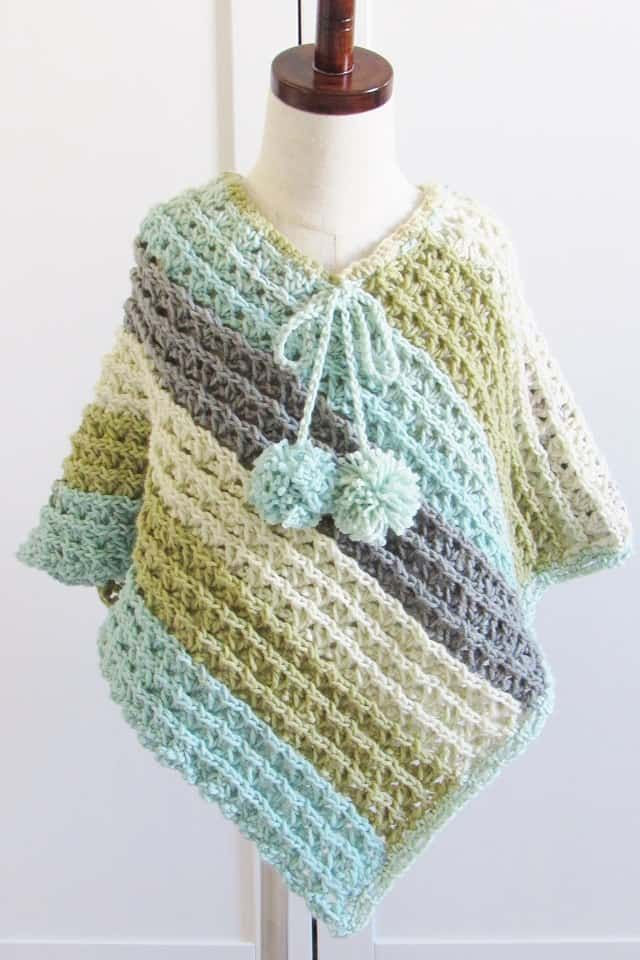 Pattern for Crochet Poncho-Textured- Crochet Dreamz