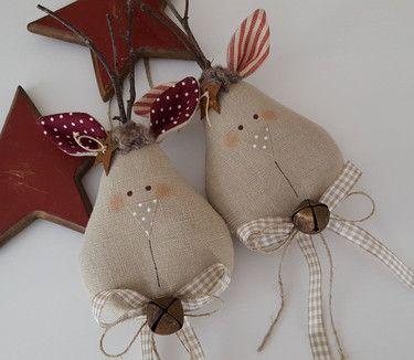 weihnachtsbaumschmuck elch landhaus fieltro y tela navidad pinterest weihnachten. Black Bedroom Furniture Sets. Home Design Ideas