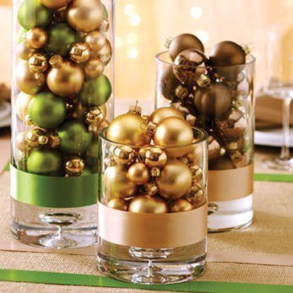 Centros de mesa navideños DIY fáciles de hacer Centros de mesa