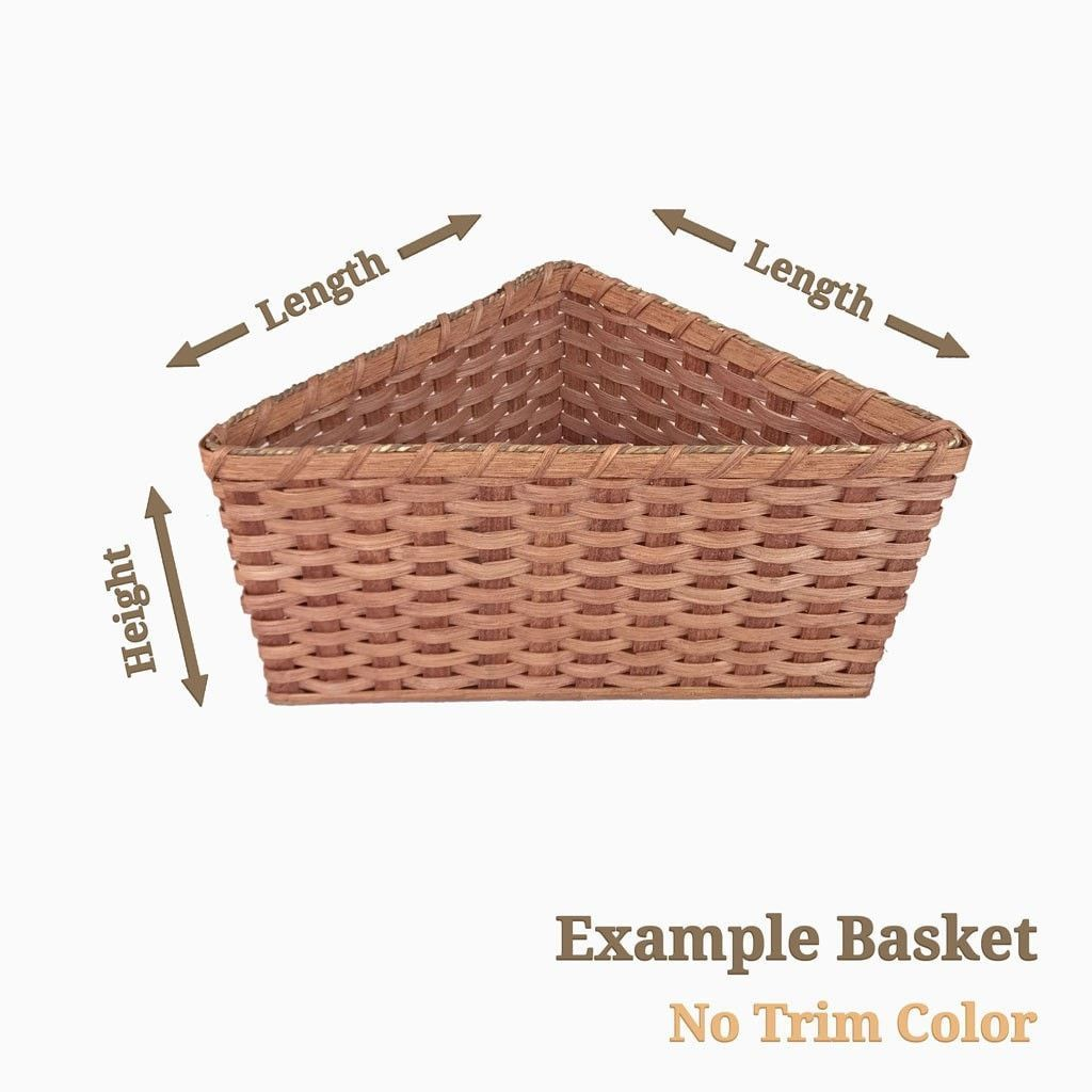 Amish Handmade Custom Size Basket – Triangle Shape