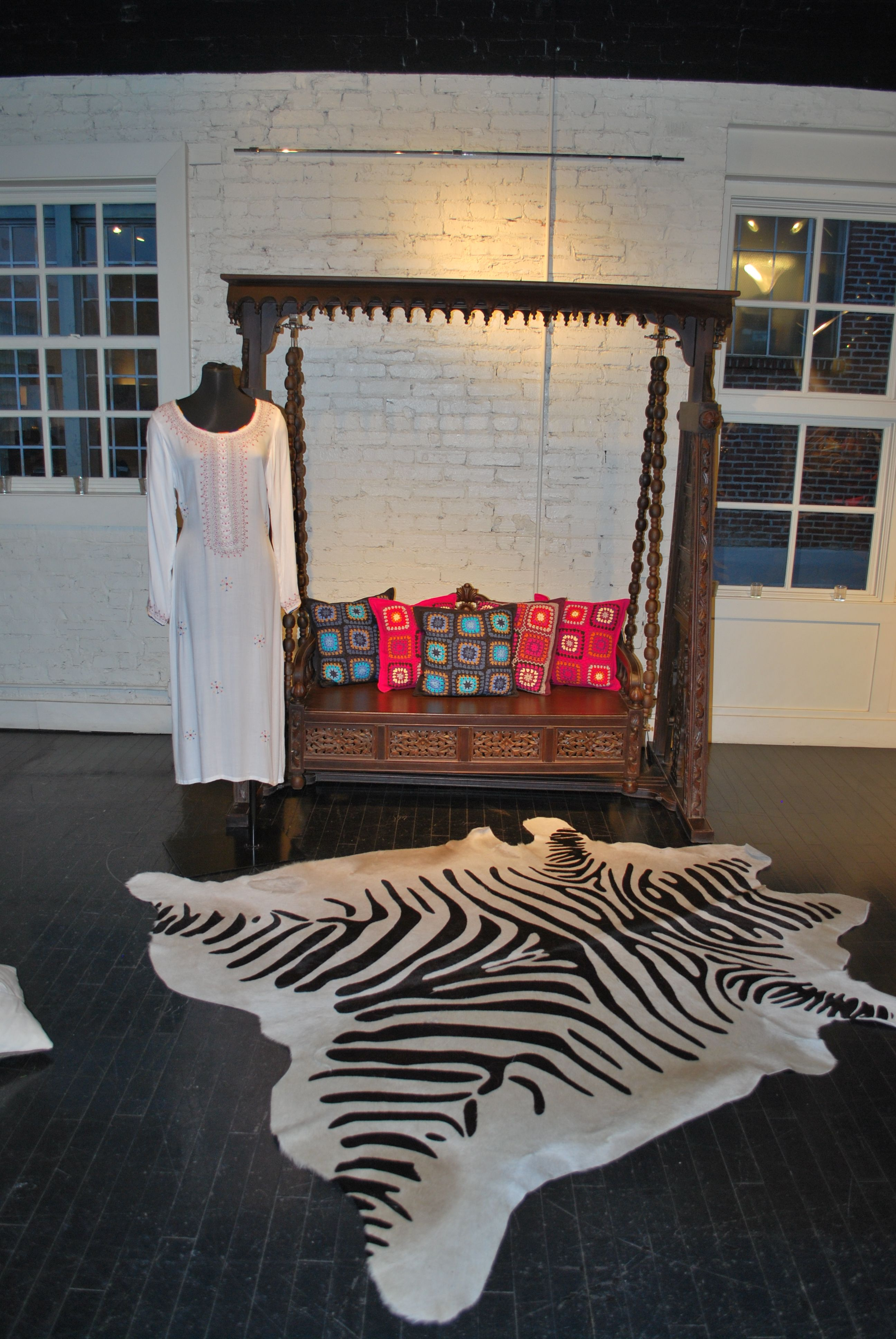 Hand Carved Swing From Pakistan Dyed Cowhide Rug From Argentina Tunic From Pakistan Cow Hide Rug Toddler Bed Loft Bed