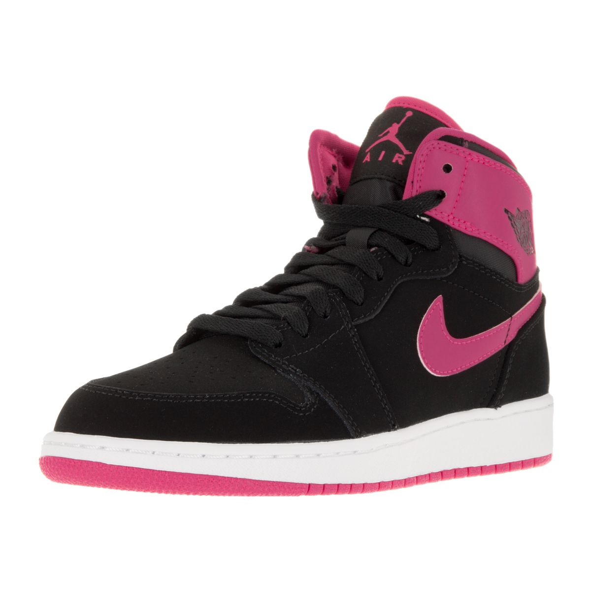 Nike Jordan Kid\u0027s Air Jordan 1 Retro High Gg /Vivid Pink/White/Vvd. Pink  Basketball ShoesJordan ...