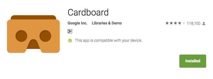 cardboard apps on samsung gear vr apk