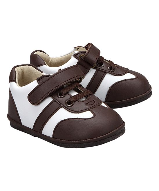 White & Brown Leather Shoe