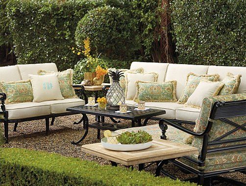 Frontgate Carlisle Furniture Collection - Onyx Outdoor Furniture