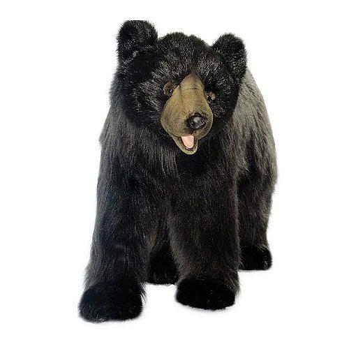 Hansa Large Black Bear Hansa Toys Jumbo Sized Fao Schwarz