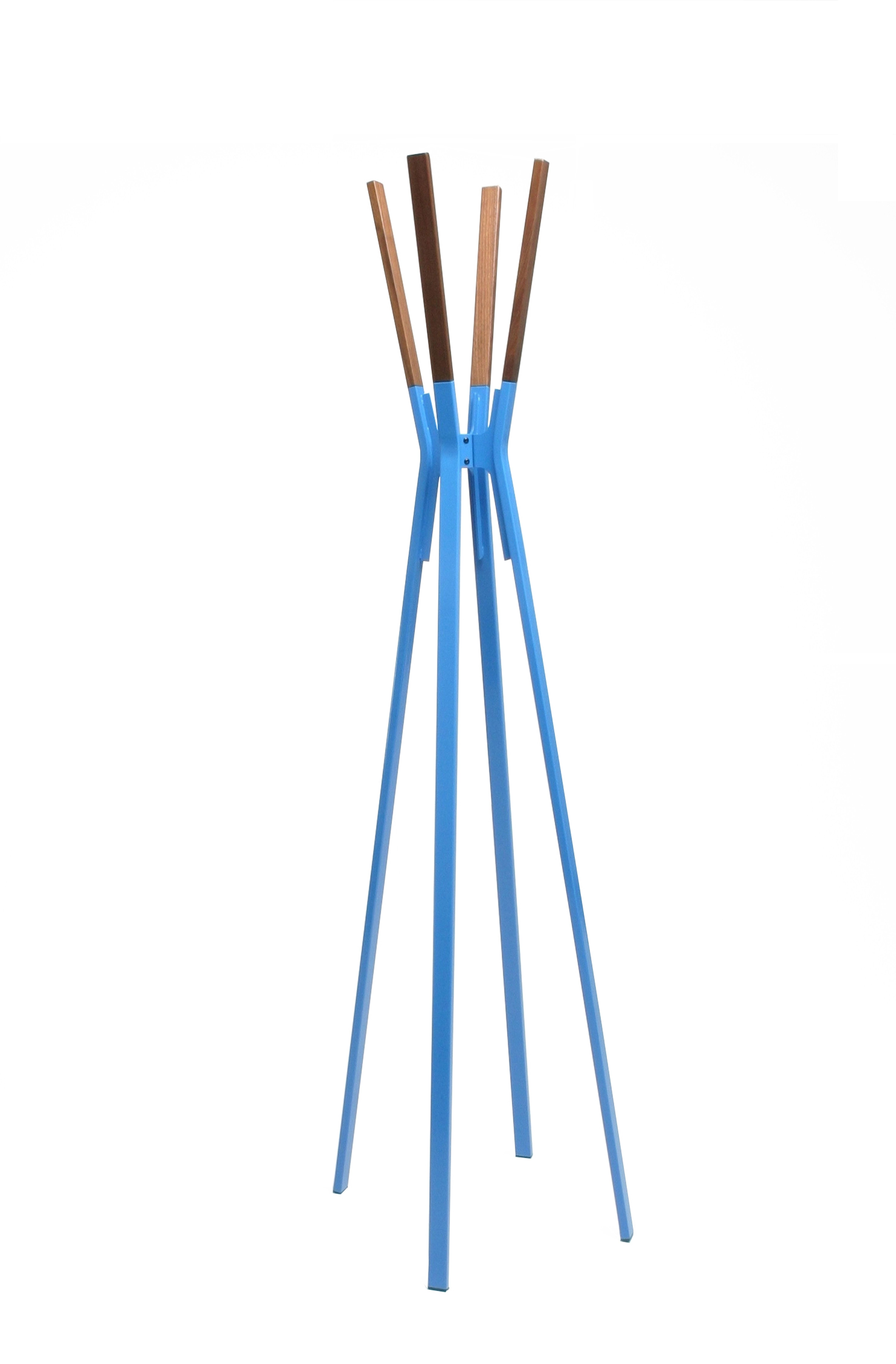 primary color splash coat rack in bright blue by bludot in bungalow magazine summer 2015