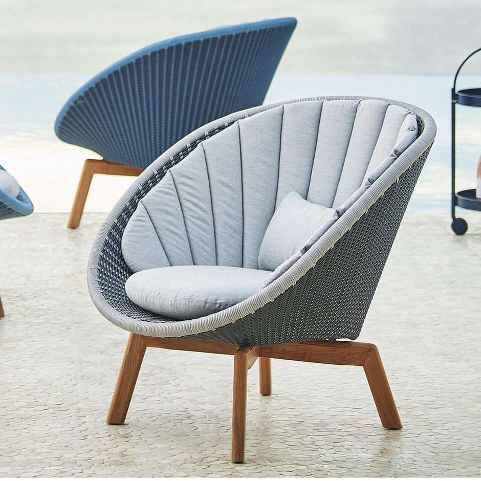 comfy outdoor chair wood high with tray peacock lounge garden tub woven furniture