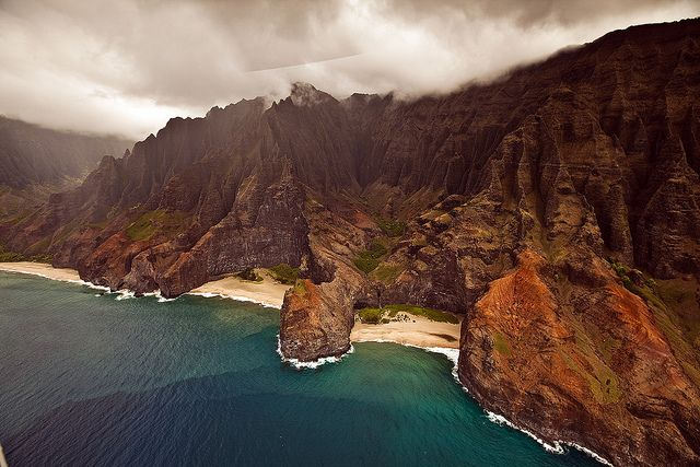 Helicopter over Kauai - Hawaii by mickdejong, via Flickr