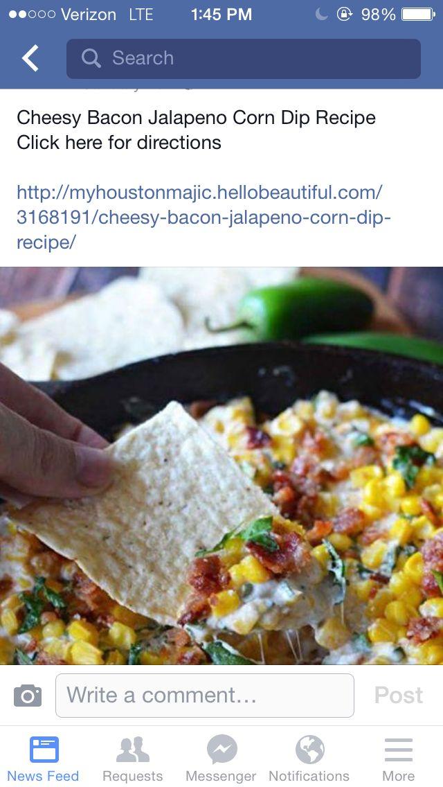 Bacon jalapeño corn cheese dip