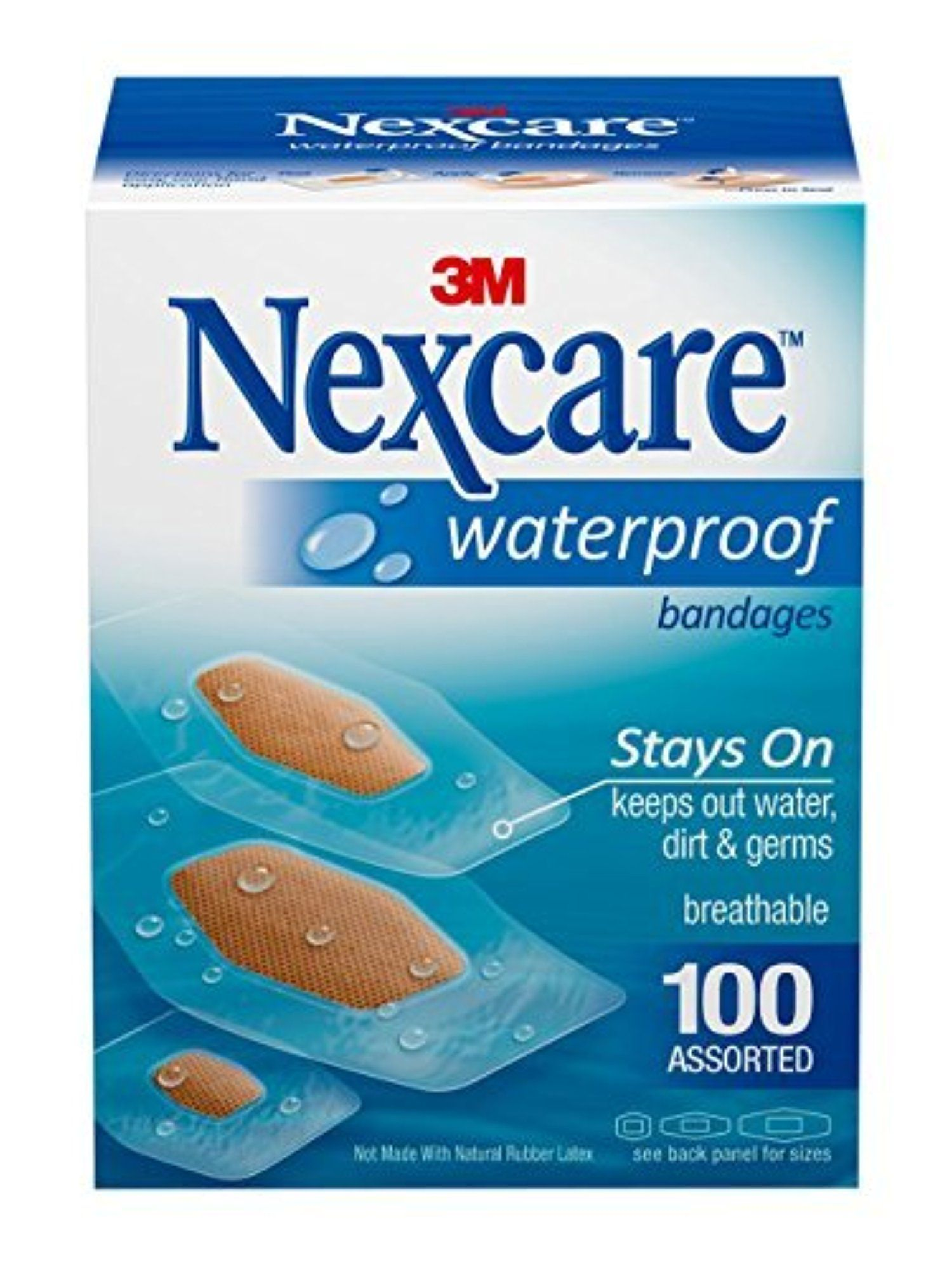 3m Nexcare Waterproof Assorted Bandages 100 Count By Nexcare