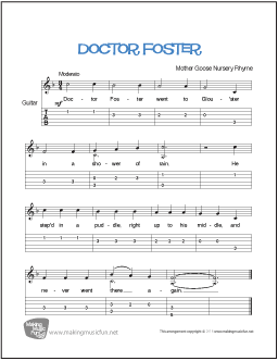 Guitar With Doctor Foster Mother Goose