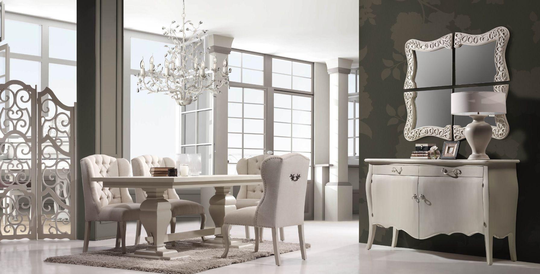 Mesa comedor cl sica nabil mesas comedor blancas for Muebles estilo frances