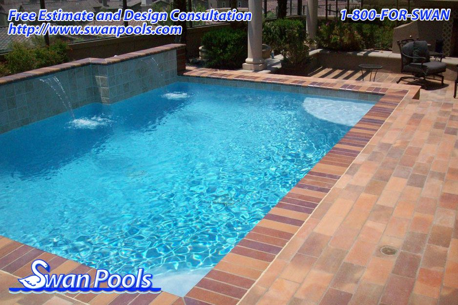 Colorquartz carribean blue building quality swimming for Quality pool design