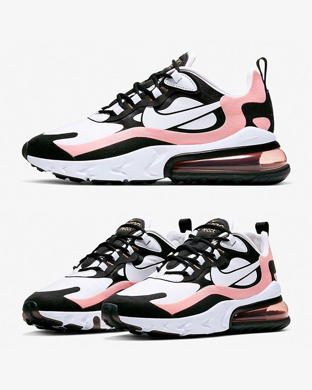 The NIKE WMNS AIR MAX 270 REACT arrives with PINK accents