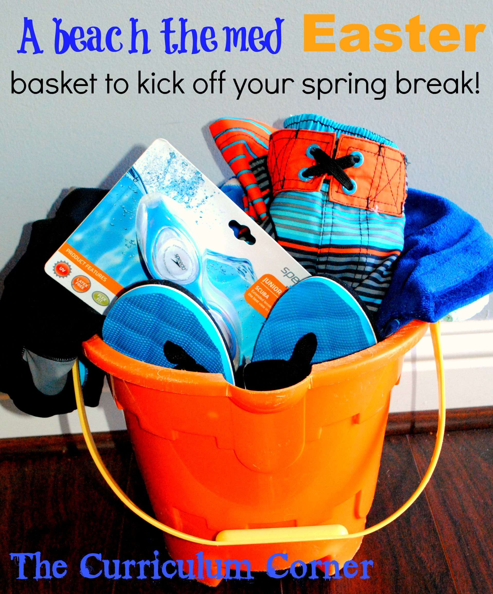 A beach themed easter basket to kick off your spring break by the a beach themed easter basket to kick off your spring break by the curriculum corner negle Image collections