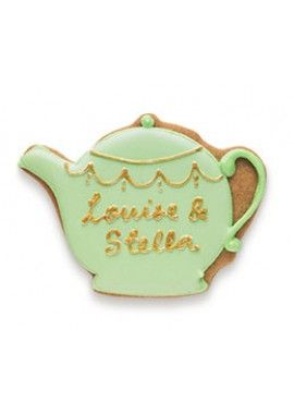 Say it with icing- personalised teapot biscuit card by biscuiteers