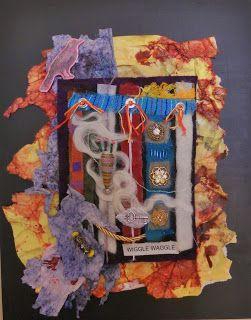 JUDYS FIBER ART@Judy Ferguson. Wool and Paper Collage.