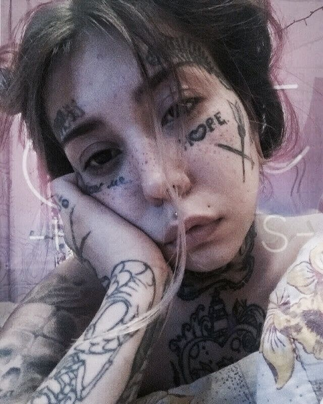 Pinterest Linell Tattoos And Piercings Girl Face Tattoo Face