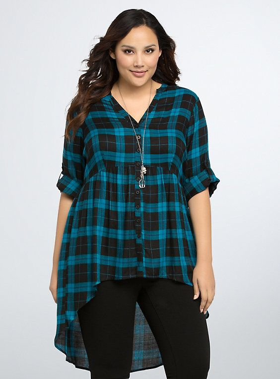 11db2d937a54e Plaid Hi-Lo Tunic | Awesome Clothes! | Plaid, Plaid tunic, Tunic