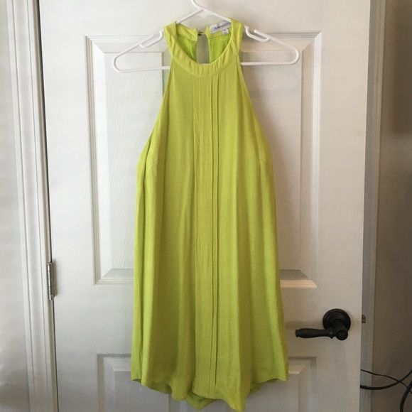 Lime Green Dress Lime green viscose dress, by Finders Keepers. Size medium. Finders Keepers Dresses Mini
