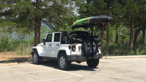 Jeep Jk Soft Top With Hitchmount Rack In Mo Jeep Jk Jeep Soft Tops