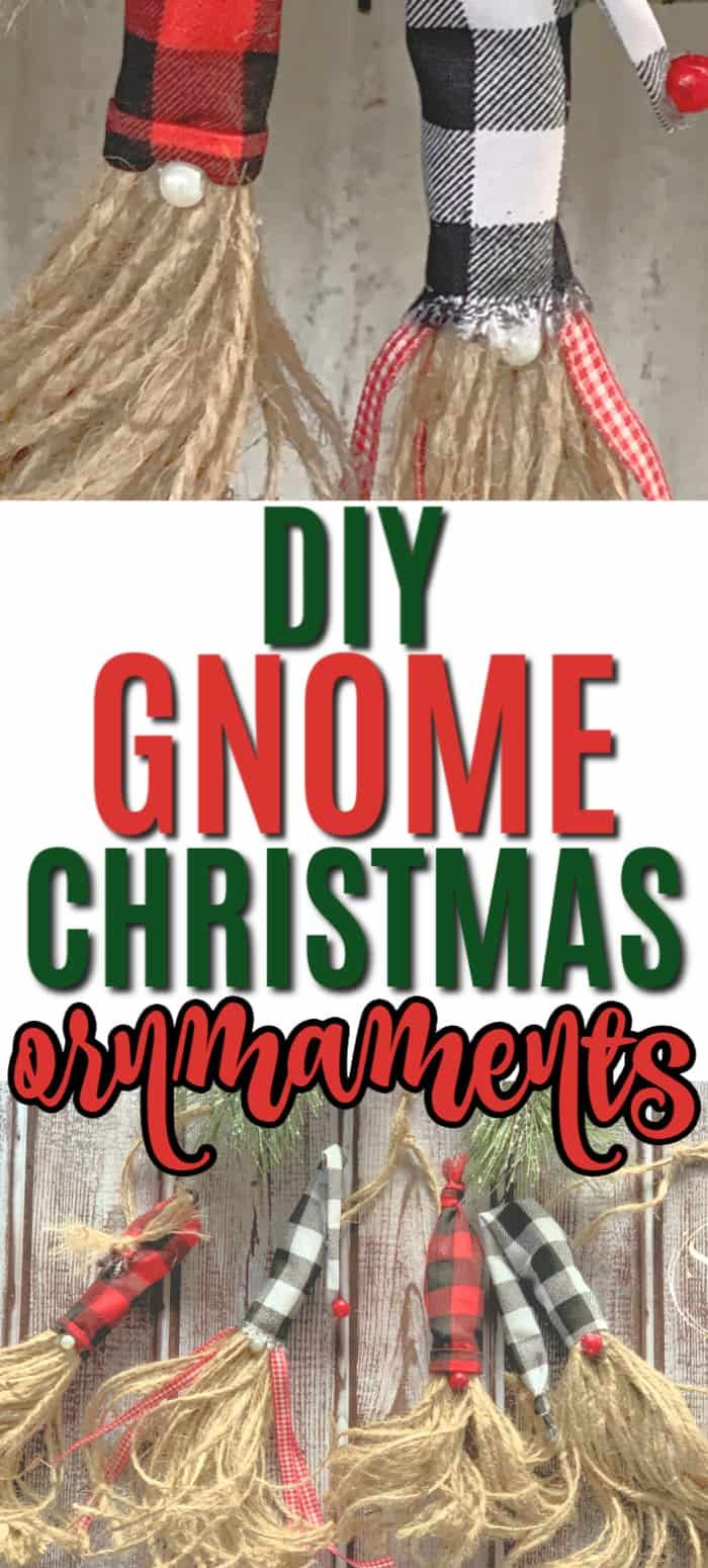 DIY Rustic Gnome Christmas Tree Ornaments Christmas tree