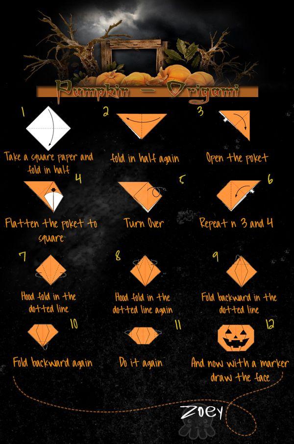 Pumpkin Origami Tutorial By Distancexkills On Deviantart