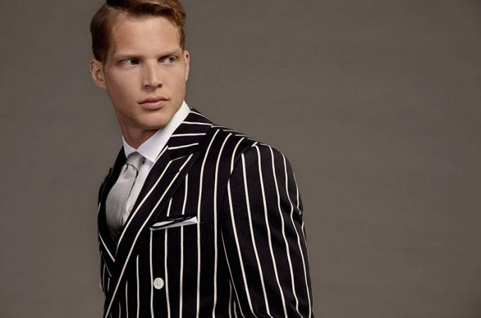Bold pinstripe suits