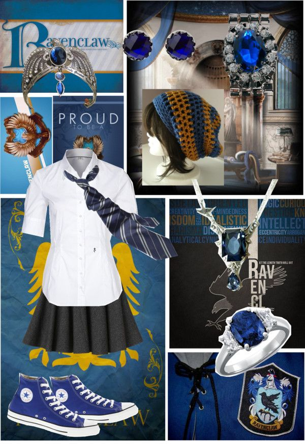 """Dedicated to the potterheads- Ravenclaw"" by lunastar210 ❤ liked on Polyvore"