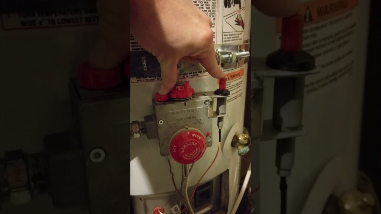 How to Relight your Water Heater Pilot Light YouTube in