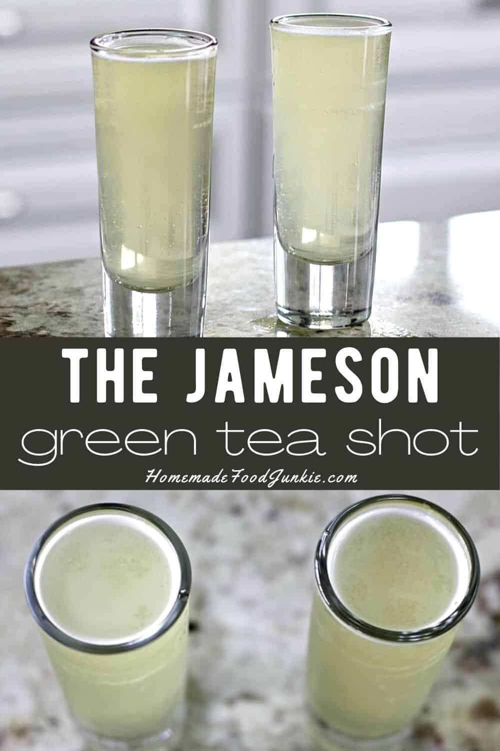 Our Tutorial Will Walk You Through How To Make A Green Tea Shot This Cocktail Is Also Known As The James Green Tea Shot Green Tea Drinks Peach Schnapps Drinks