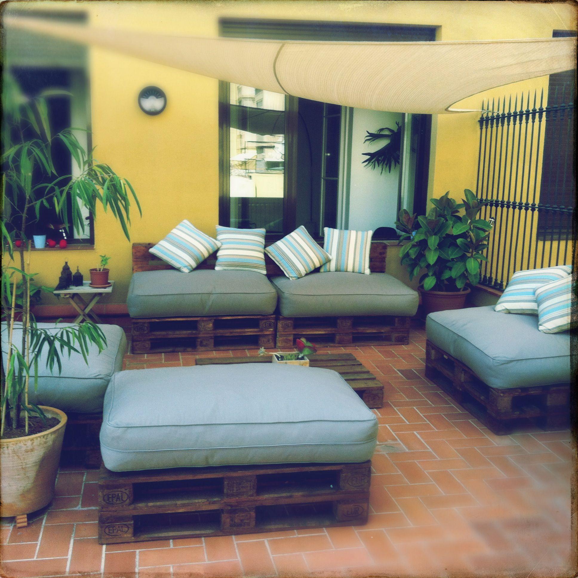 Palets diy terrace mueble de palet ideas con palets for Diy terrace