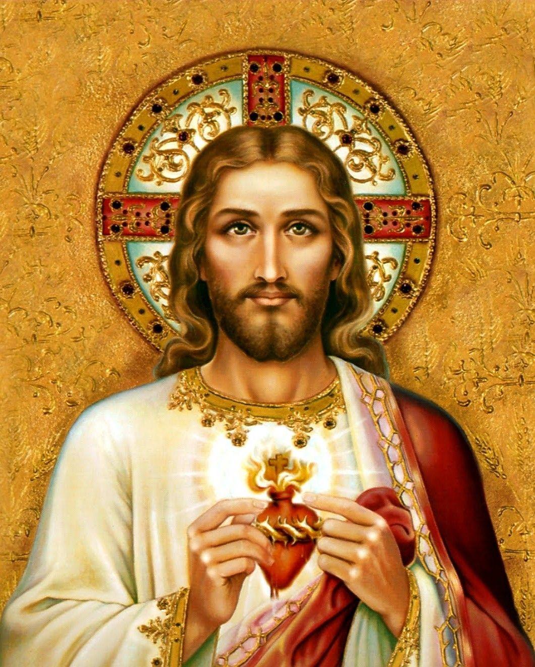 Sacred Heart Of Jesus Jesus Christ Wall Art Decor Canvas Home Decor Jesus Picture Sacred Heart Art Catholic Artwork Catholic Art
