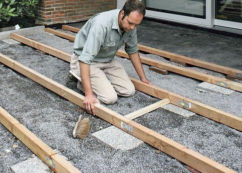 terrassendielen verlegen | unterkonstruktion, holzterrasse und, Hause deko