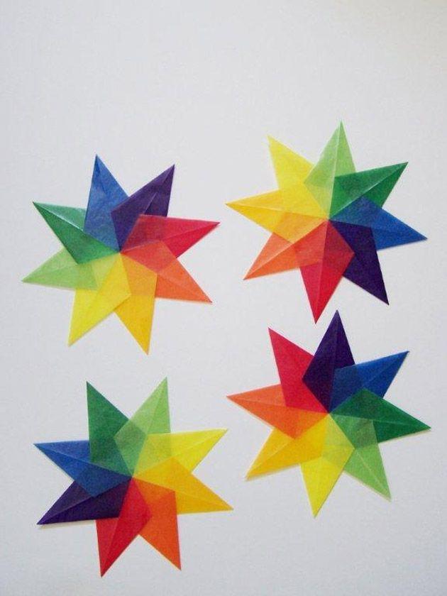 crafts for kids kite paper stars papier sterne basteln basteln mit kindern und papiersterne. Black Bedroom Furniture Sets. Home Design Ideas