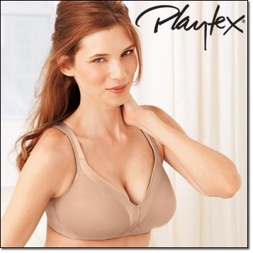 b2c530cdb8 Playtex® 18-Hour® Sleek and Smooth Wirefree Bra (4803)  Polyester spandex nylon cotton. Hand wash. Imported. White