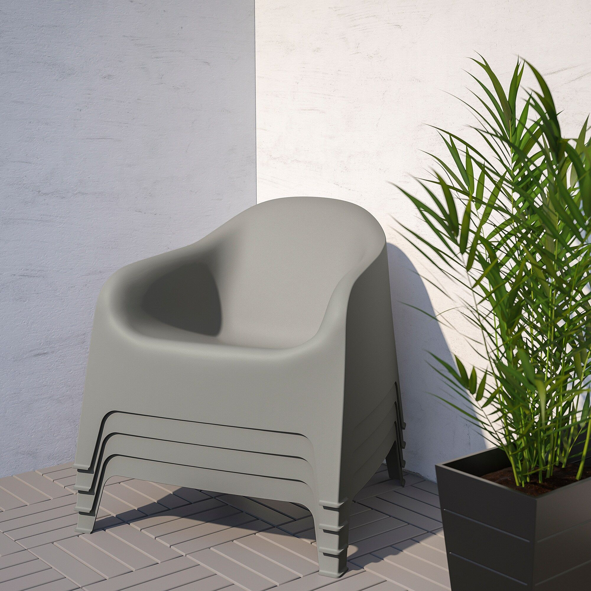 fauteuil jardin plastique