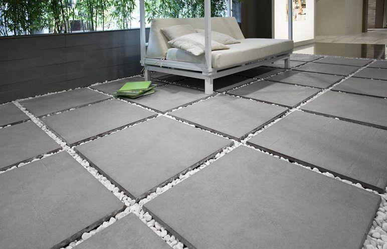 Carrelage Et Cailloux Pour Terrasse Terrasse Carrelage Sur Plot Carrelage Exterieur Carrelage Escalier Exterieur