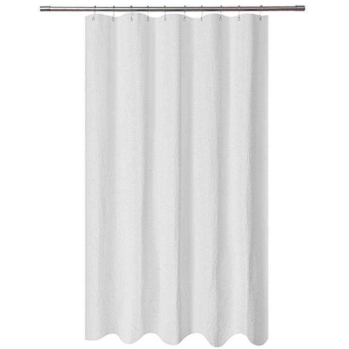 Amazon Com Long Stall Shower Curtain 54 X 78 Inch Fabric Waffle
