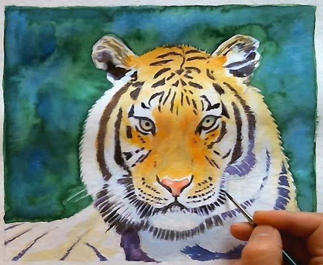 Aquarell Malen Lernen Video Aquarell Malen Tiger Malen Und