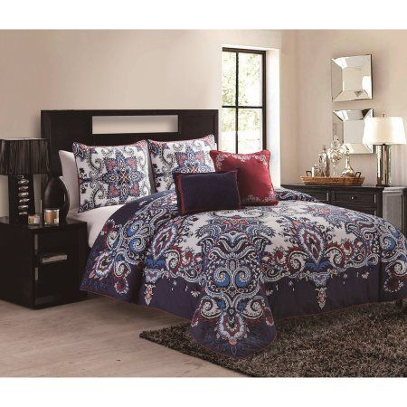 Vcny Istanbul Multi Colored 5 Piece Global Inspired Reversible