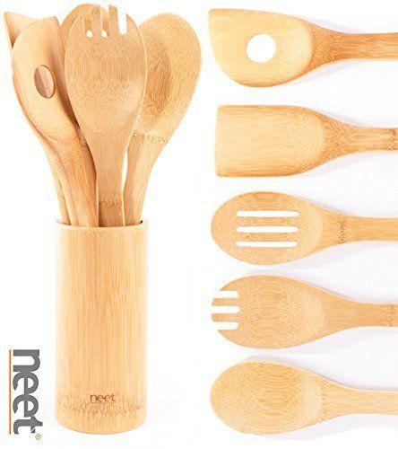Neet Organic Wooden Bamboo Cooking & Serving Utensils, kitchen utensils, 6 Piece Set BMB-U6, http://www.amazon.com/dp/B016ASSTGW/ref=cm_sw_r_pi_awdm_2gjBxbF692AYV
