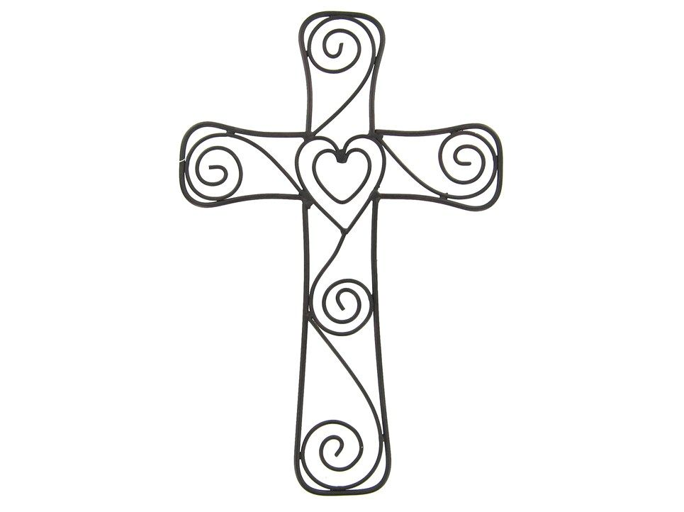 gallery for drawing of a cross with a heart art class ideas