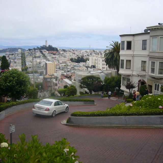 Lombard street. The crookedest street in San Francisco.