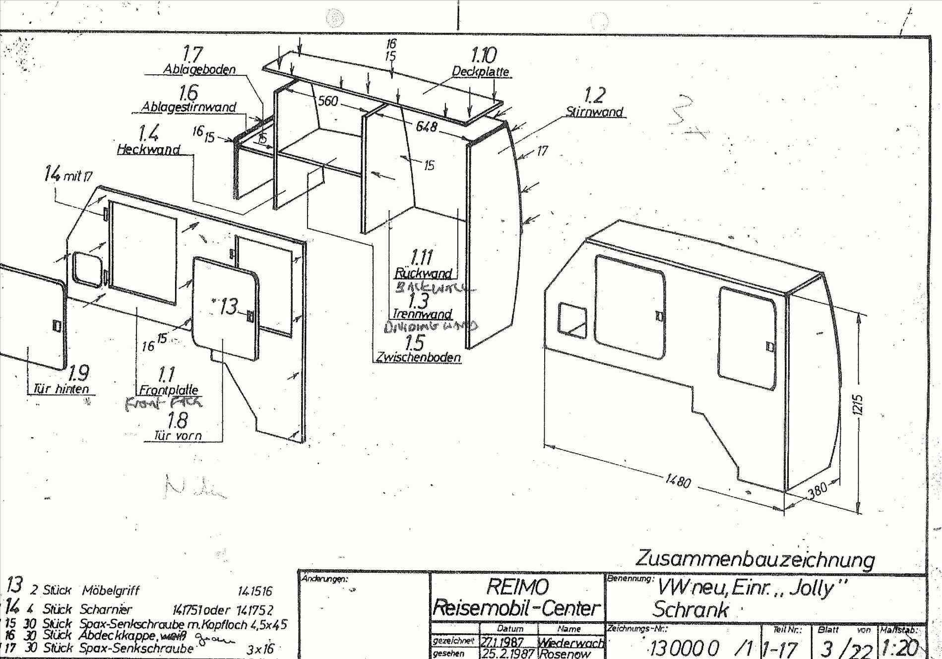 Vw Camper Interior Plans Wall Ma